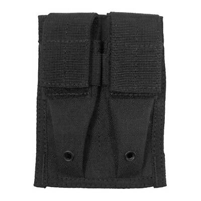 Army Tactical Double 9mm Magazine Ammo Pouch Molle System Modular Webbing Black