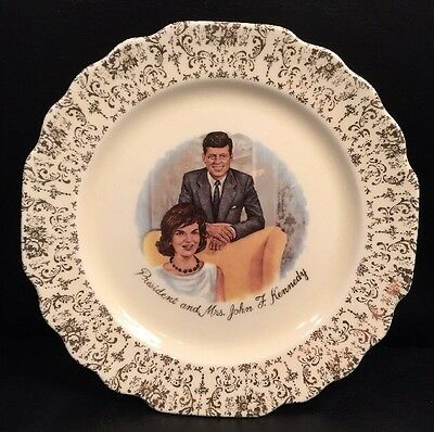 President and Mrs. John F. Kennedy  Collector Plate - by W. S. George / Jackie