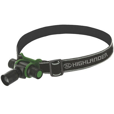 Highlander Focus 3W White Led Headlamp Tactical Camping Handfree Zoom Beam Light