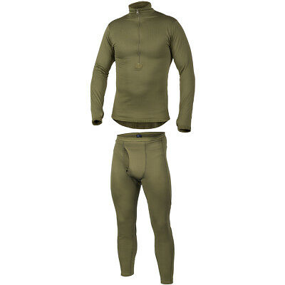 Helikon Mens Army Thermal Underwear Set Top + Long John Bottoms Level 2 Olive Od