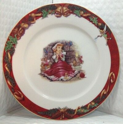 Disney Stefan Lindell Collection Christmas Characters Salad China Plate