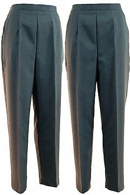 Ladies Women's Lawn Bowls Bowls wear Bowling Ladies Grey Straight Leg Trouser BN