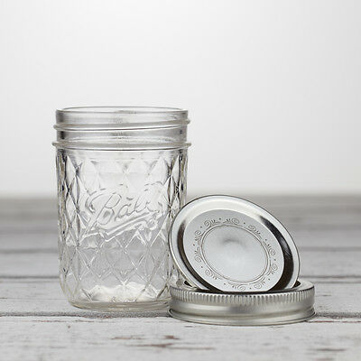 Ball Mason Quilted Crystal Jelly Jar 8oz