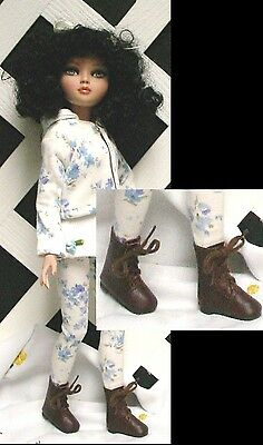 DOLL Shoes 2 pair DK BRN Boots Spec Price for Ellowyne, Patience, Bitty Bethany