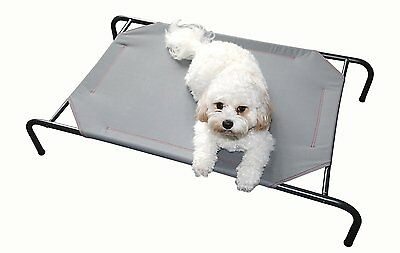 Pet Comforts Brand Strong Breathable & Sturdy Frame Medium Raised Dog Bed - GREY
