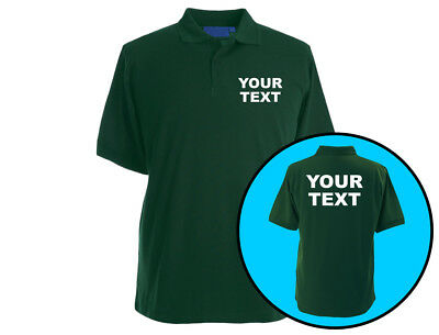 Your Text Personalised Unisex Premium 210 Gram Polo Shirt Workwear (6 Colours)