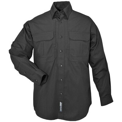 5.11 Us Tactical Long Sleeve Mens Shirt Forces Security Guard Police Cadet Black