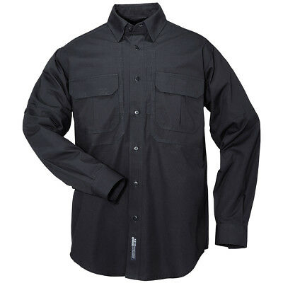5.11 Us Tactical Long Sleeve Mens Shirt Police Security Ripstop Fire Navy Blue