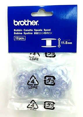 Genuine Brother Bobbins 11.5mm (pack of 10) SFB / SA156 / XA5539151