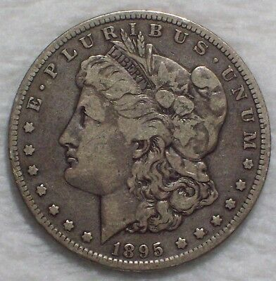 1895 O Morgan Dollar SILVER KEY DATE COIN Authentic VF Detailing - RARE $1 Coin