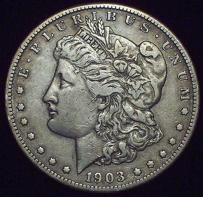 1903 S Morgan Dollar SILVER Semi-Key DATE COIN Authentic VF+/XF Detailing Coin