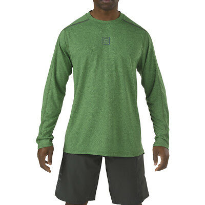 5.11 Recon Triad Mens Shirt Moisture Wicking Long Sleeve Gym Sport Top Grid Iron