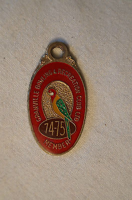 Collectable - Vintage - 1974 - Granville Bowling & Rcreation Club - Badge -Medal