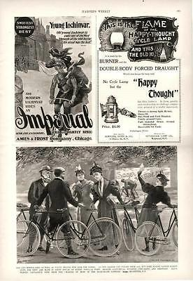 Sager Bicycle Saddles  -  Imperial Bicycle  -  Happy Thought Cycle Lamp   - 1897