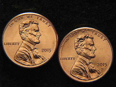 2015  P & D  Lincoln Shield penny Uncirculated