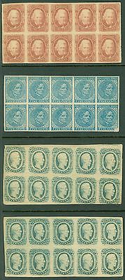 USA : Confederate. Amazing group of 4 Blocks of 10. All are PO Fresh & VF, NH.