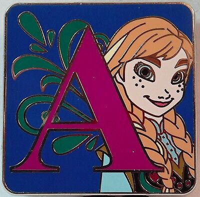 NEW 2015 Disney Parks Alphabet Mystery Set LR Trading Pin Letter A ANNA Frozen