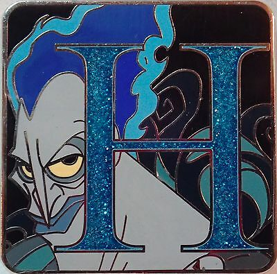 NEW 2015 Disney Parks Alphabet Mystery Trading Pin Letter H Hades Chaser LE 400