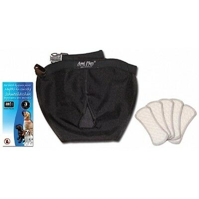 Adjustable Dog Sanitary Pants + 5 Liners In Heat Season Female Bitch Hygiene