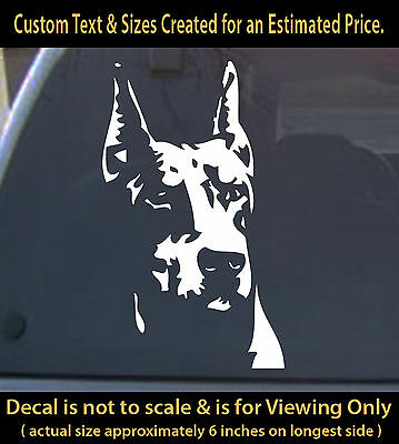 Doberman Decal Vinyl 6 inch dog pet lover sticker for car home laptop decor more