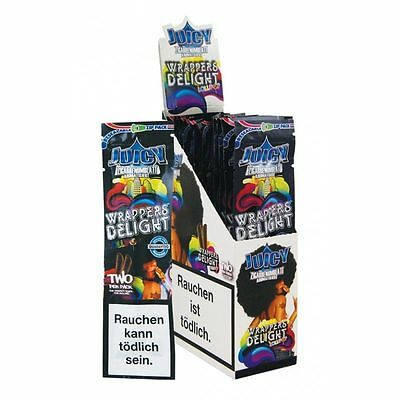 2 PACKS X2 sheets JUICY JAYS DOUBLE BLUNT WRAPS- DELIGHT-CIGAR ROLLING PAPER