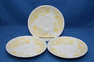 3 pc Lot Royal Staffordshire Windsong Saucers J. G. Meakin Ironstone England