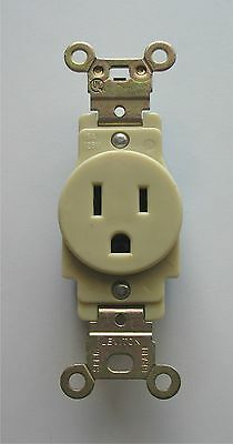 Leviton 15A 125V Single Receptacle Specification Grade Outlet Straight Blade USA