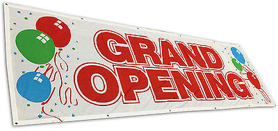 3x10 ft GRAND OPENING Banner Sign Vinyl Alternative Store Sale Retail Fabric wb