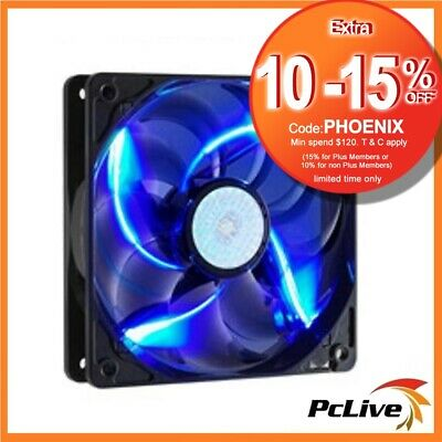 Cooler Master SickleFlow X 120mm Case Fan Blue LED 3-pin 4-pin 12cm CoolerMaster
