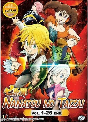 DVD Nanatsu no Taizai / The Seven Deadly Sins  Vol. 1 - 26 End