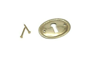 Keyhole Cover Plates Escutcheons For Antique Victorian Furniture Stamped Brass