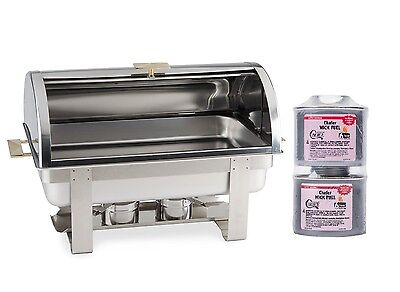 New DELUXE ROLL TOP Chafer Stainless Chafing Dish Lowest tOTAL pRICE $10 Rebate