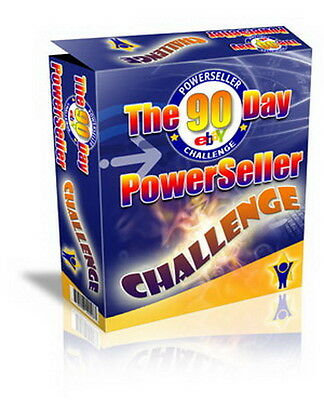 The 90 Day Powerseller Challenge + Resell Rights Ebook Cd Free Shipping