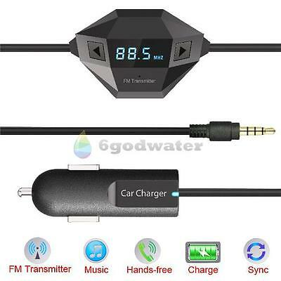 NEW 3.5mm Car Radio FM Transmitter Charger Adapter MP4 Player for iPhone6/6plus