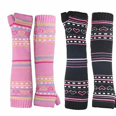 Trespass Dione Girls Knitted Winter Casual Arm Warmers for School Ski