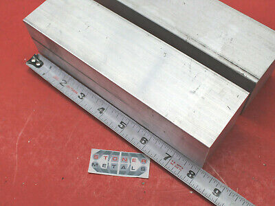 """2 Pieces 2-1/2"""" X 2-1/2"""" ALUMINUM 6061 SQUARE BAR 8"""" long T6 Solid Mill Stock"""