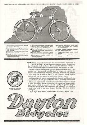 Dayton Bicycles  -  Davis Sewing Machine Co.  -  Original Advertisement  -  1919