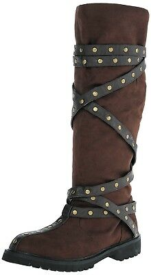 Robin Hood Renaissance SteamPunk Western Captain Cosplay Costume Boots BROWN