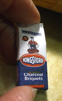 Miniature Kingford Charcoal bag real tiny charcoal for your Barbecue 1:12 scale