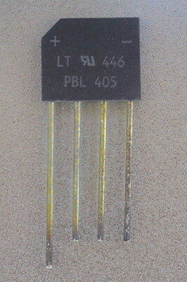 PBL405 full wave bridge rectifier 420V 4A