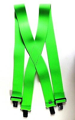 2 inch Bright Green Hi-Visibility Suspenders - Clip On (6 LEFT)