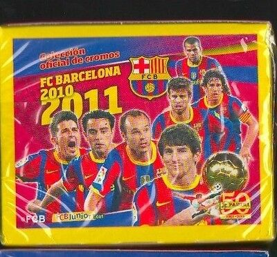 2010-11 Panini Barcelona Sealed sticker pack (5) stickers Barca Cromos Messi