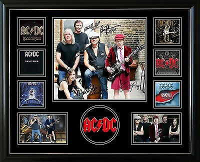 Acdc Signed Limited Edition Framed Memorabilia