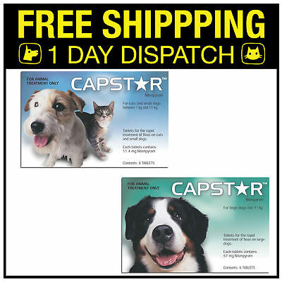 CAPSTAR FLEA TABLETS for dogs and cats - BOTH SIZES