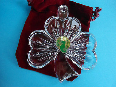 Waterford Crystal Shamrock Ornament New In Box Christmas Decoration