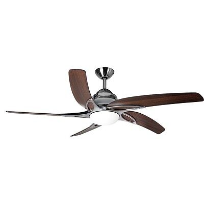 Fantasia Viper Ceiling Fan 54in Stainless Steel/Light/Remote
