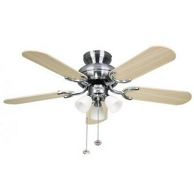 Fantasia Amalfi Ceiling Fan 36in Stainless Steel With Light