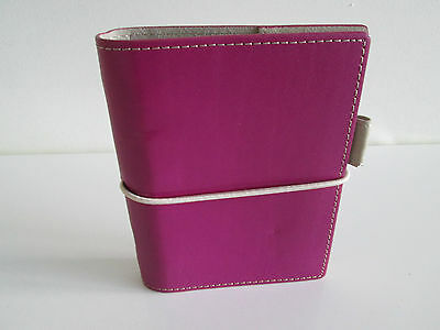*WOW* FILOFAX DOMINO POCKET SIZE ORGANISER PURPLE WITH INSERTS