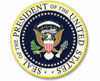 4x4 inch ROUND Presidential Seal Sticker -logo decal president dc official trump