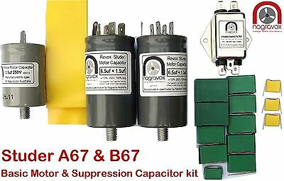 Studer A67  B67  Basic Motor & Suppression Capacitor Kit